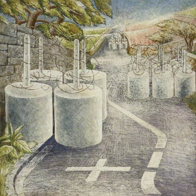 Anti-Invasion Obstacles on a Road