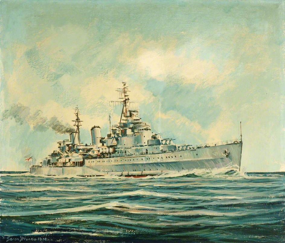 HMS 'Belfast' at Sea