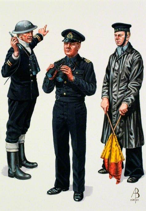 Royal Navy, World War Two: Lieutenant, Home Waters, 1941; Lieutenant Royal Naval Reserve, Home Waters, 1941; Signal Rating, Coastal Waters, 1945