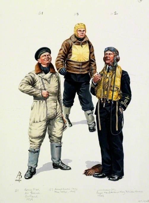 Air Branch, World War Two: Rating Pilot, Air Branch, Scotland, 1939; Lieutenant (A), Royal New Zealand Navy Volunteer Reserve, Home Waters, 1942; Aircraft Direction Personnel; Aircraft Carrier, 1945