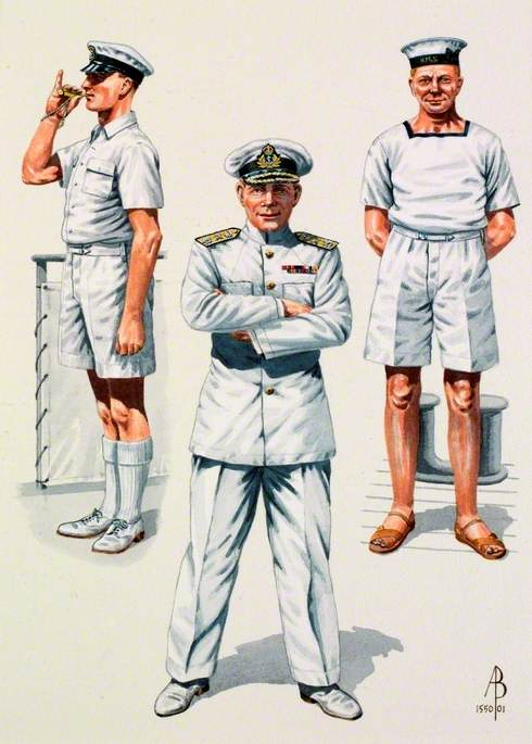Royal Navy, Far East, World War Two: Petty Officer 1940, Rear Admiral, 1940; Rating, Far East, 1945