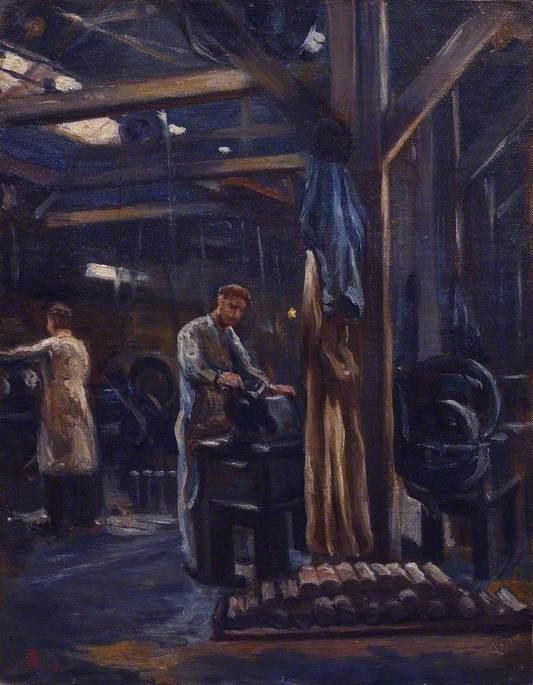 Workers: The Belgian Steel Factory, Goldhawk Road, W12