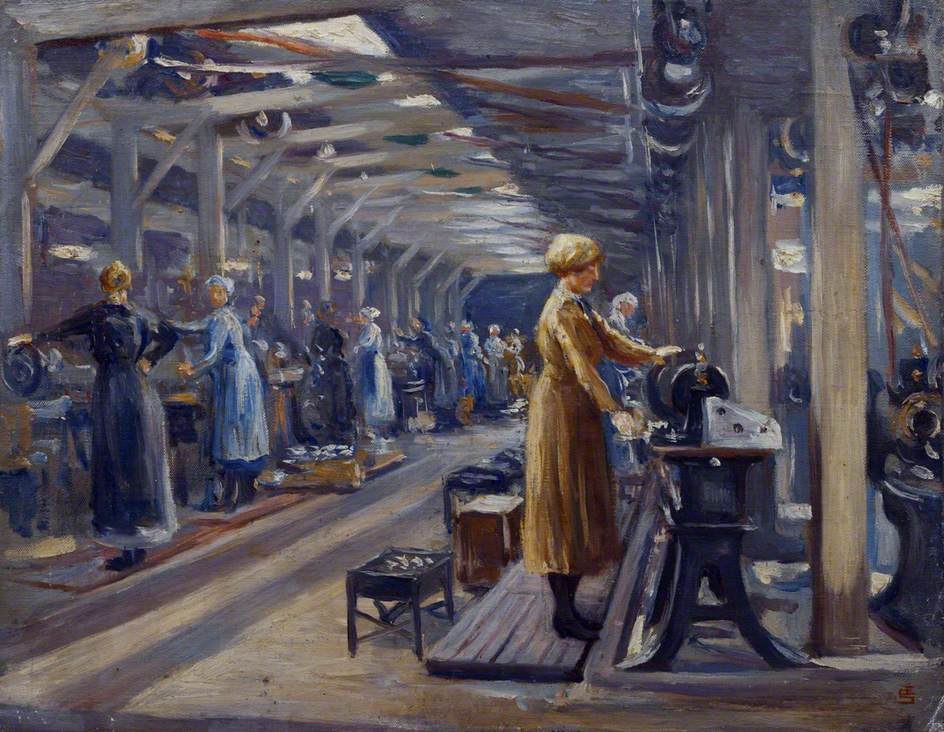 Women at Work: The Belgian Steel Factory, Goldhawk Road, W12