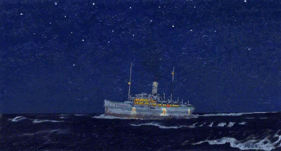 A Hospital Ship at Night