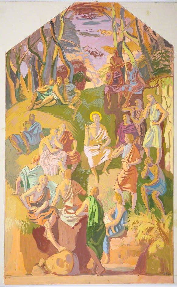 Study for 'The Sermon on the Mount'