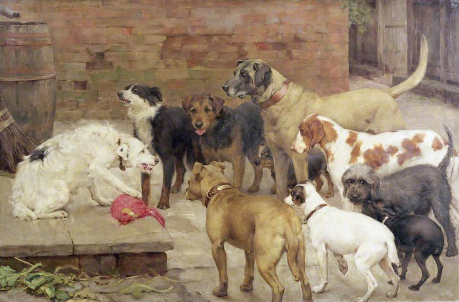 Dog With His Master's Dinner – La Fontaine's Fables