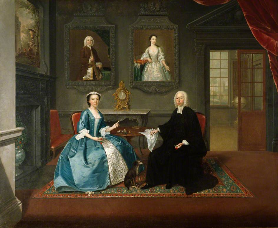 The Reverend Streynsham Master and His Wife, Margaret of Croston, Lancashire