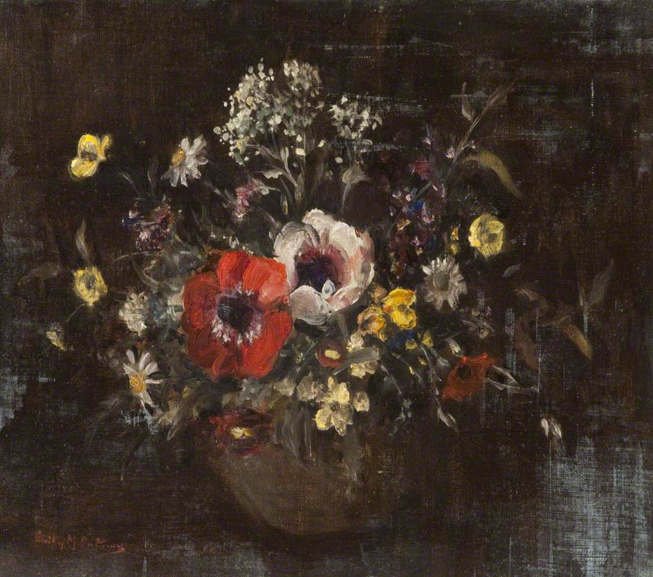 Anemones and Wild Flowers