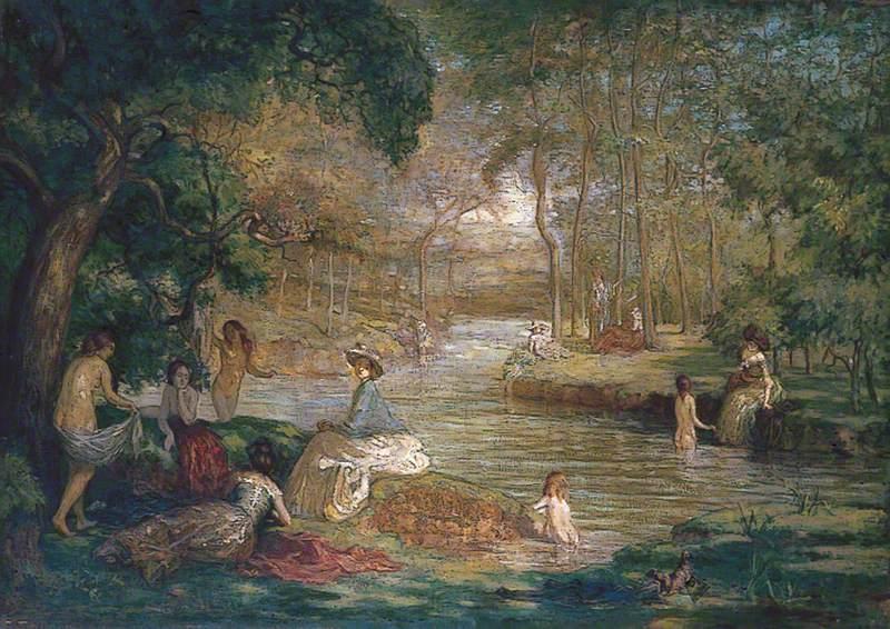 Bathers: Women Bathers by a River