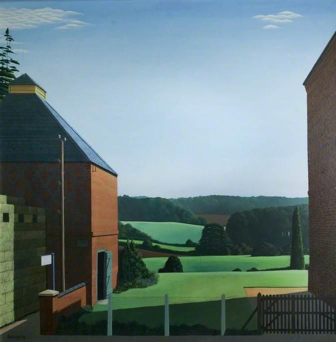 Landscape between Two Buildings
