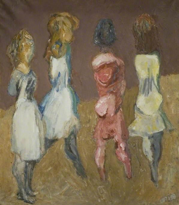 Four Girls at Forte dei Marmi, Italy