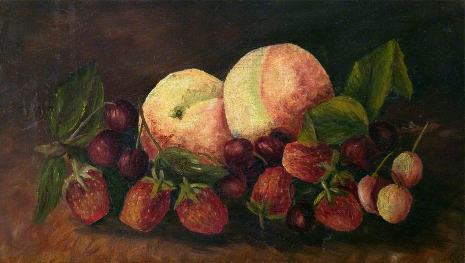 Still Life with Peaches, Cherries and Strawberries