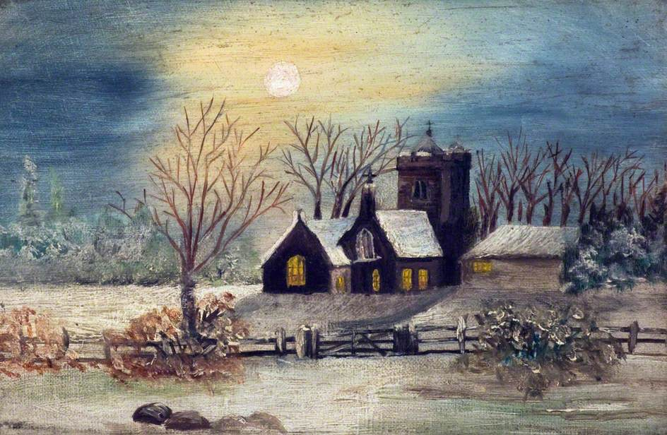 Church and Countryside in the Snow