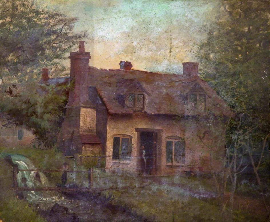 View of a Cottage by a Stream