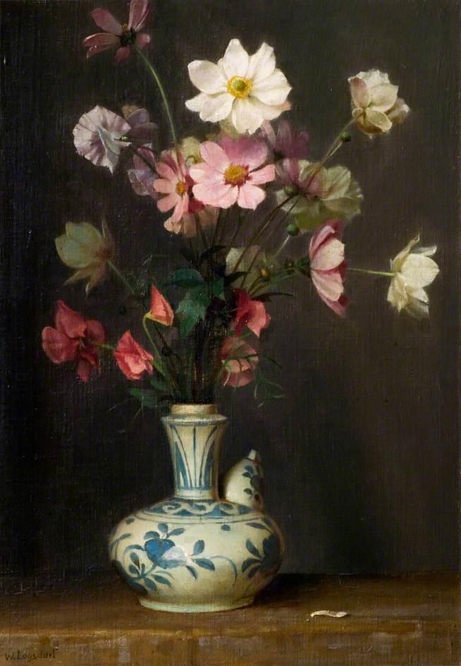 Flowers in a Persian Bottle