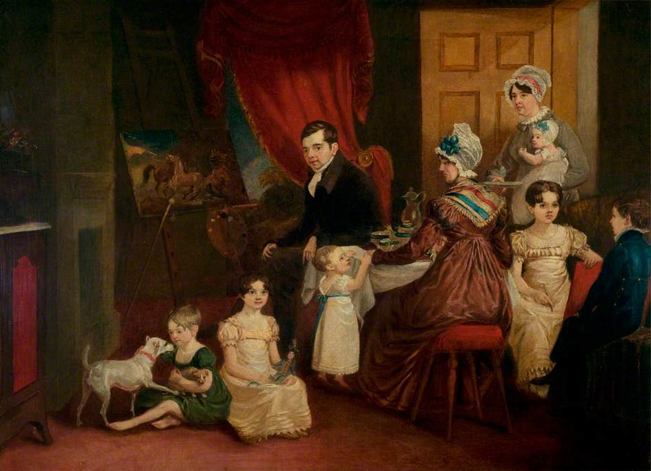 Portrait of the Artist and His Family in His Studio