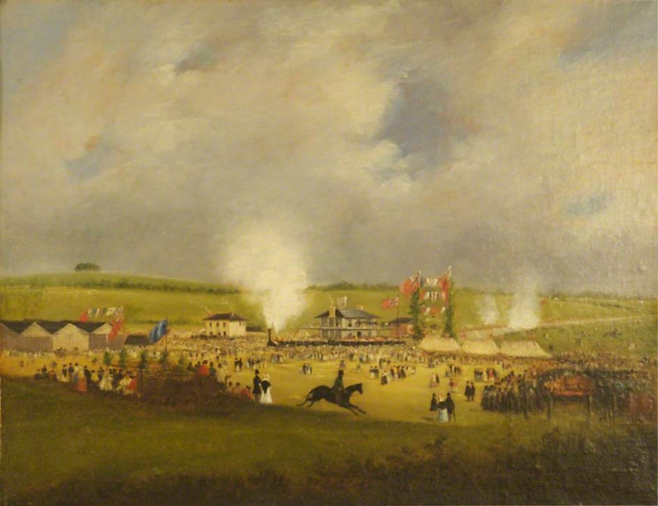 The Opening of the Leicester and Swannington Railway (The Arrival of the First Train at Bagworth, 17 July 1832)