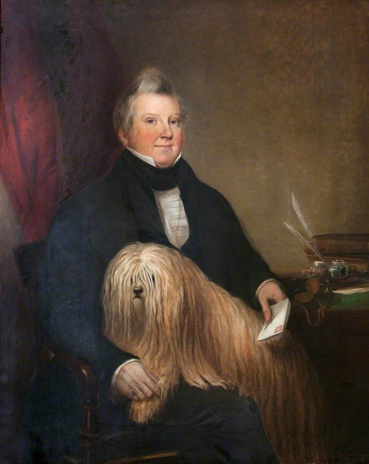 Portrait of an Unknown Man and a Dog