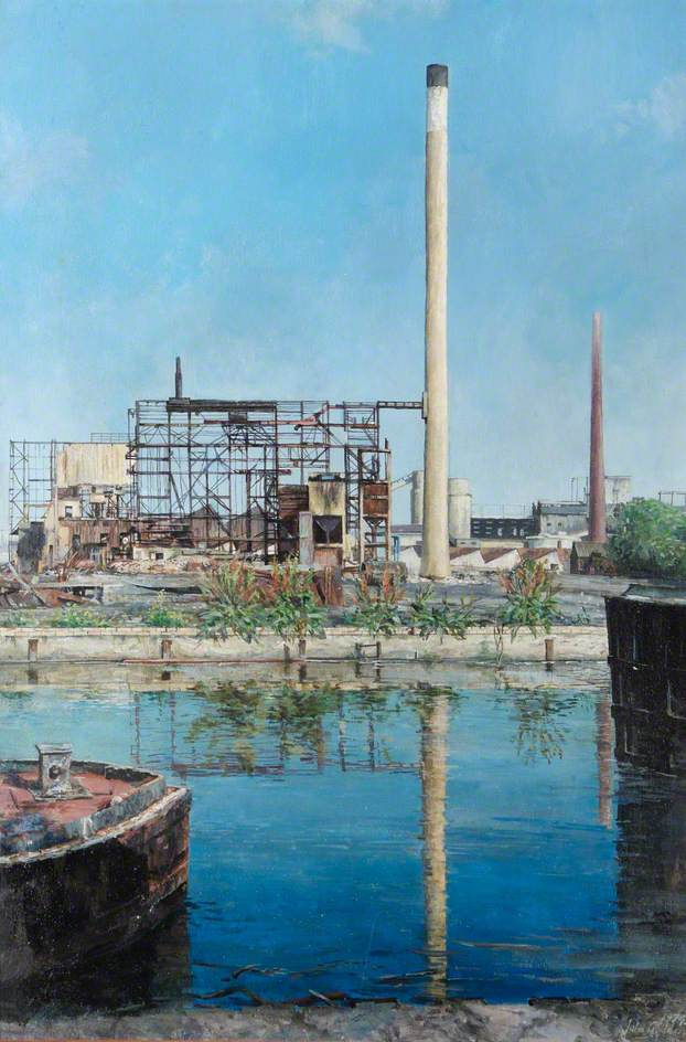 Demolition at Willoughby Lane Gasworks