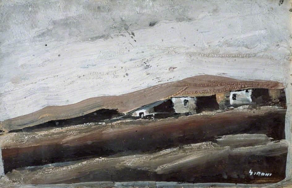 Three Huts on a Hillside