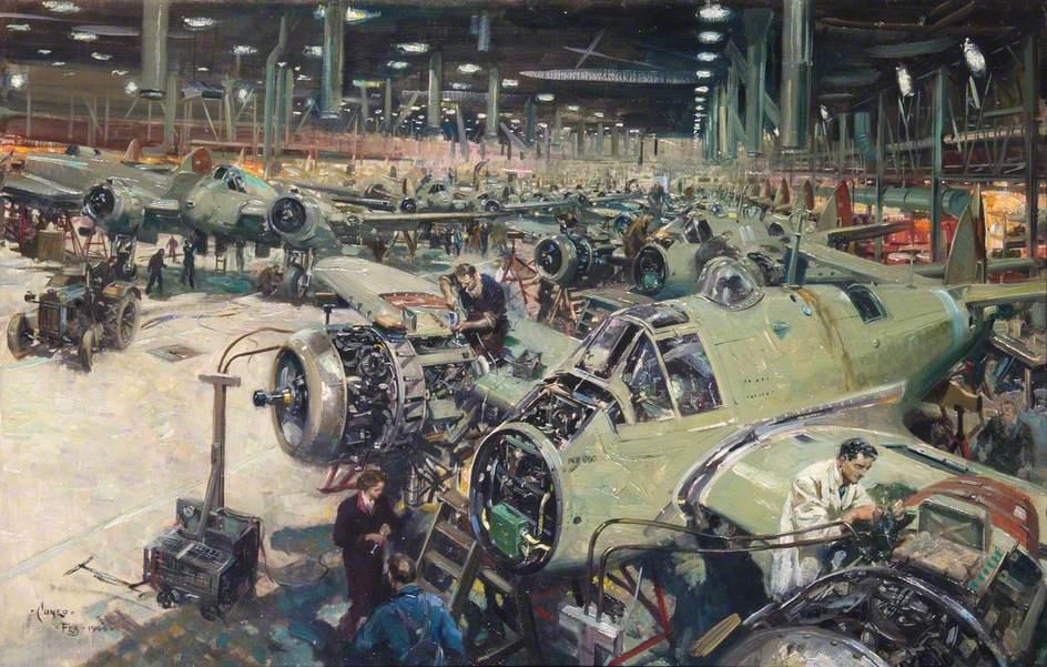 Bristol Aircraft Company Assembly Line
