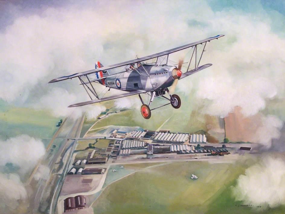 Hawker Hart Over Pre-War Hendon