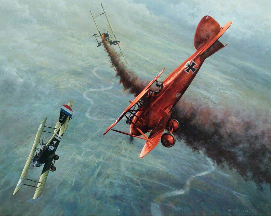 Albatros and Sopwith Dogfight