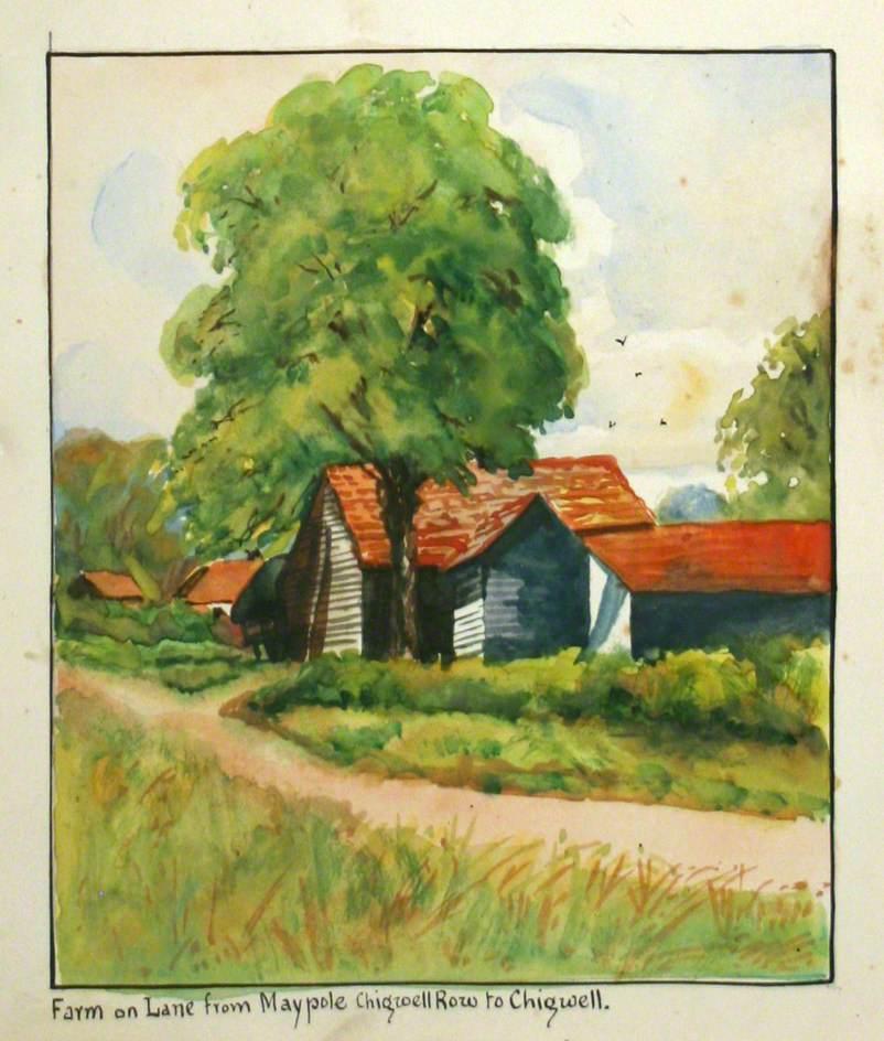 Farm on Lane from Maypole Chigwell Row to Chigwell, Essex