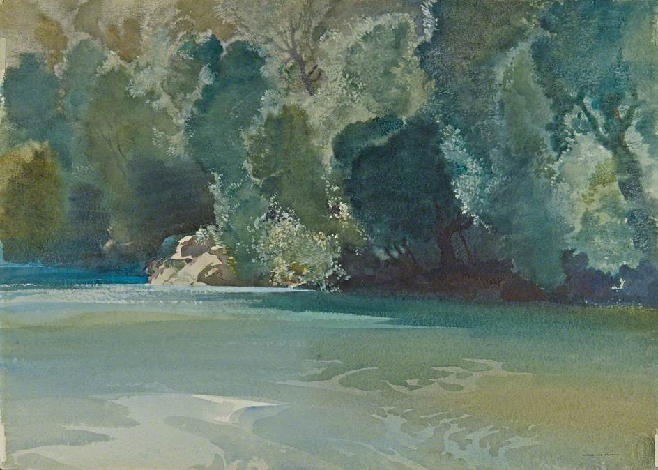 Midsummer Noon on the River Gard, Languedoc