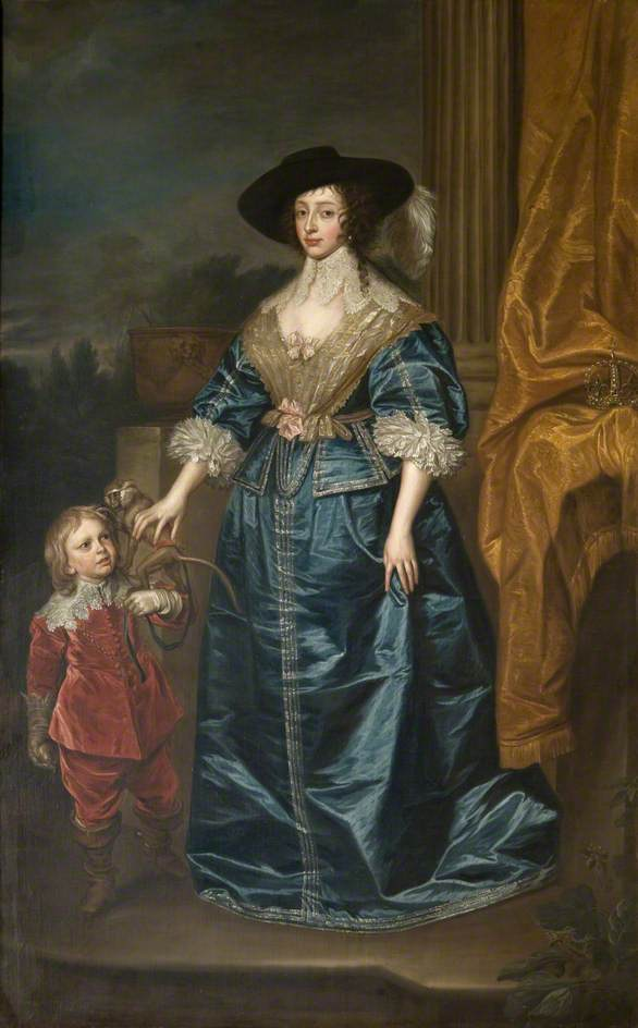 Henrietta Maria (1609–1669), with the Dwarf, Geoffrey Hudson