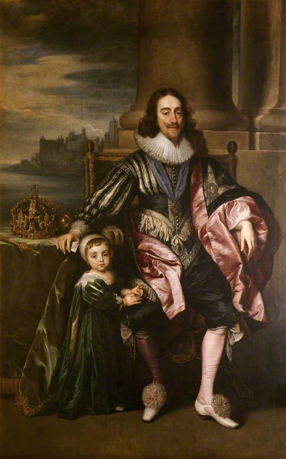 Charles I (1600–1649), and Prince Charles (1630–1685)