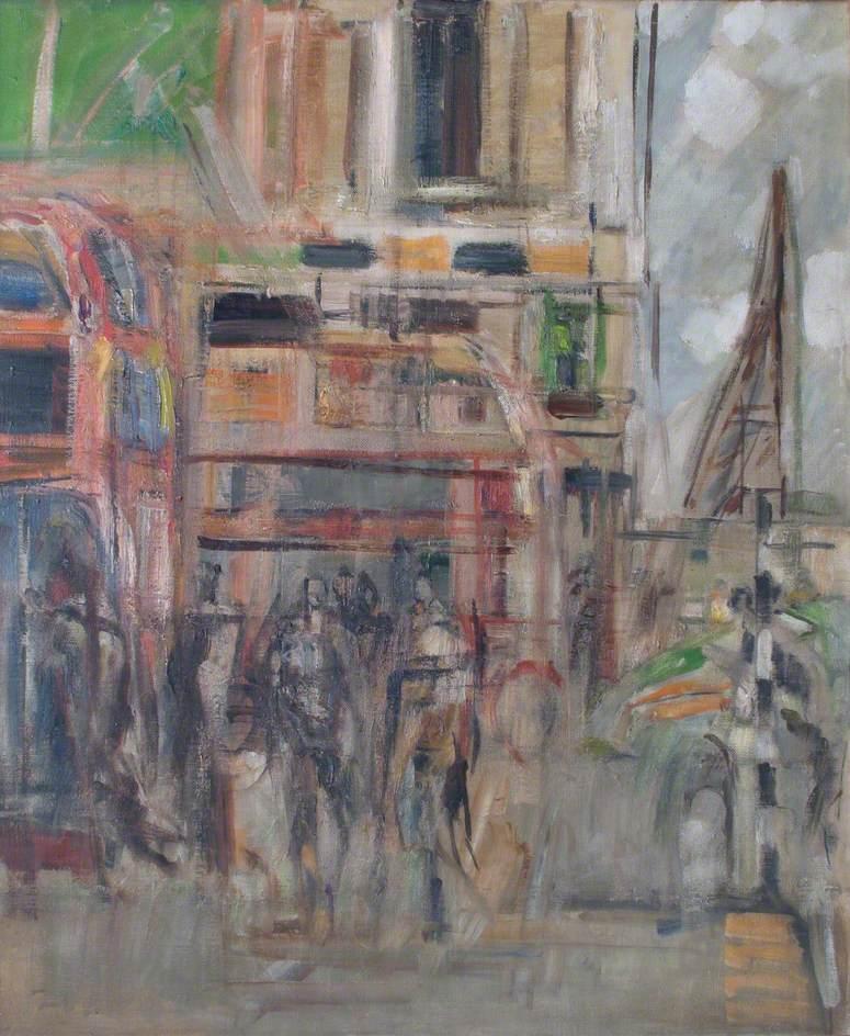 Bus Stop, Fulham Road, London