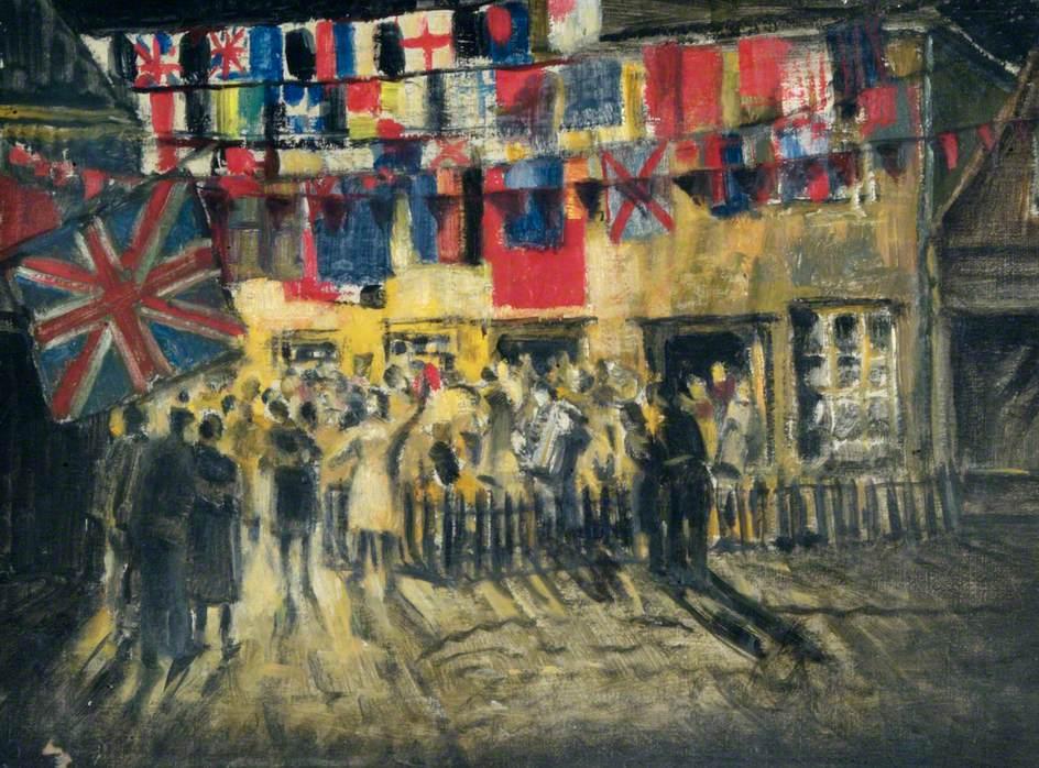 VE Day Celebrations, Waterloo Place, Richmond, Surrey