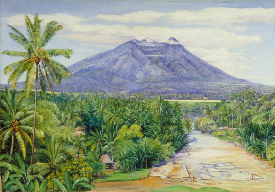 View of the Salak Volcano, Java, from Buitenzorg