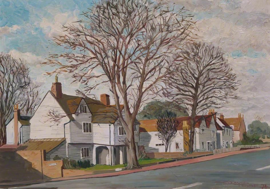 Malden Road, Cheam, Surrey, with Whitehall