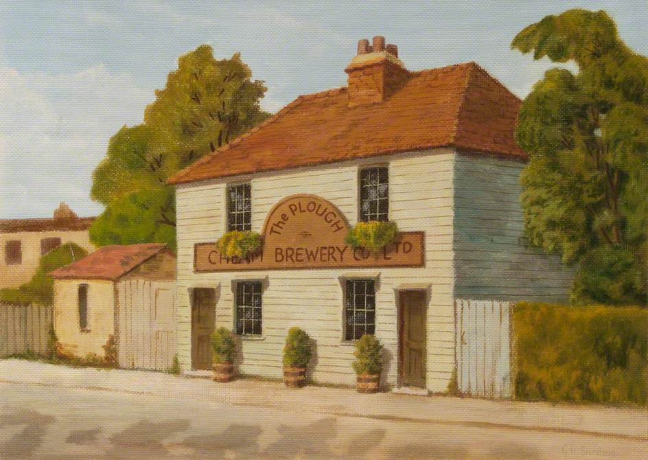 'The Plough' Inn, Sutton Common Road, 1912