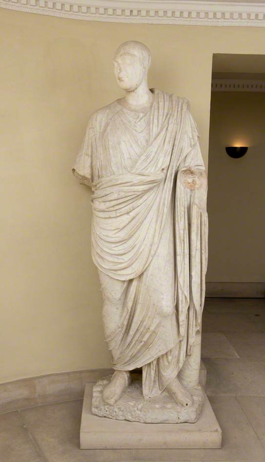 A Roman Man Wearing a Toga