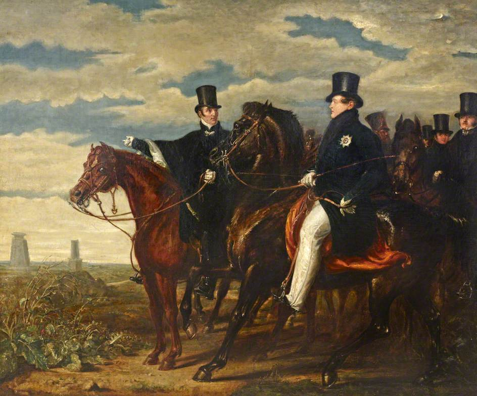 The Duke of Wellington Describing the Field of Waterloo to HM George IV