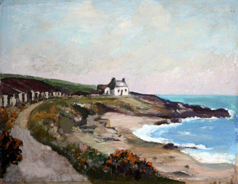 Coastal View with Cottage, Isle of Man