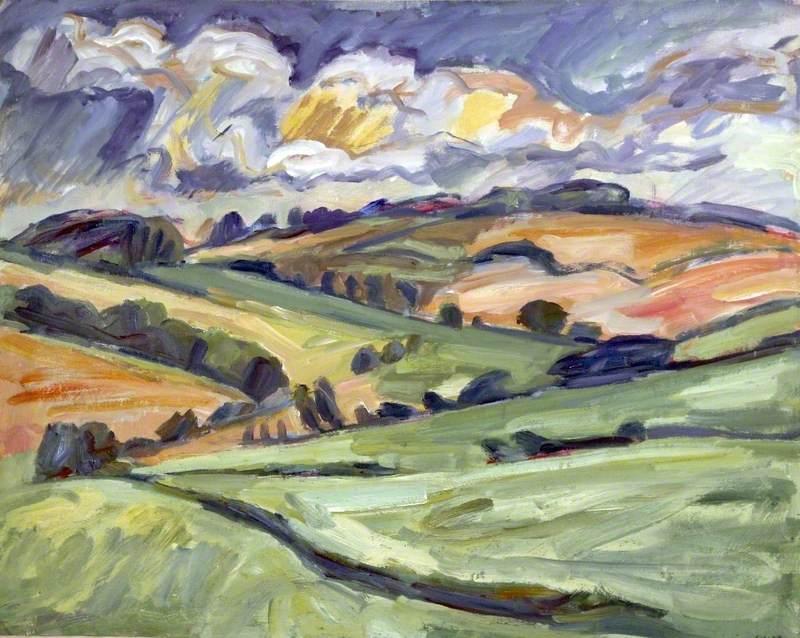 Distant Fields near East Ilsley, Berkshire