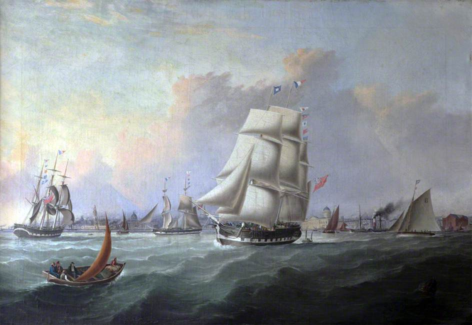 The Port of Liverpool: In the Foreground the Ship 'John Campbell', Owner Isaac Bold
