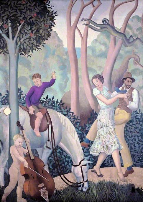 A Tropical Fantasy: Charles Reilly's Dining Room Mural