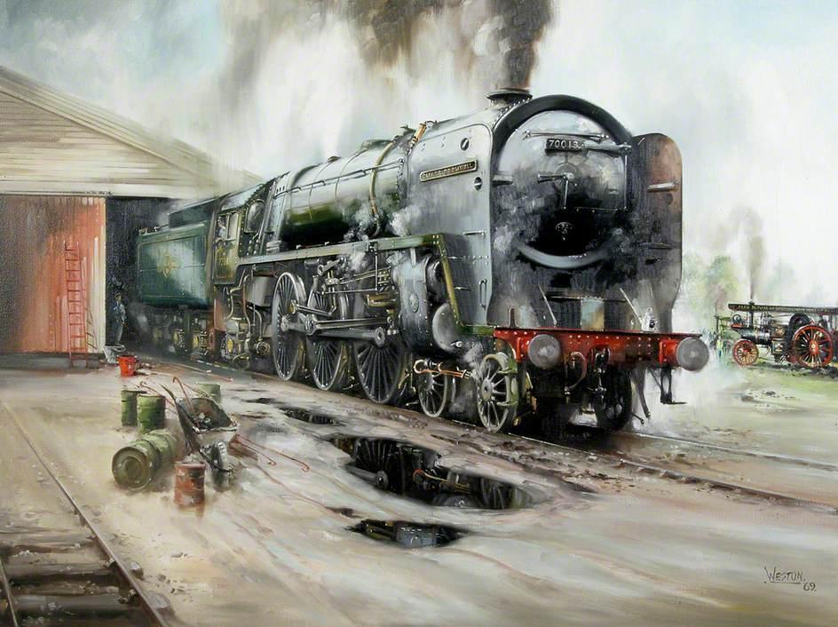 Britannia Class Locomotive No. 70013, 'Oliver Cromwell'