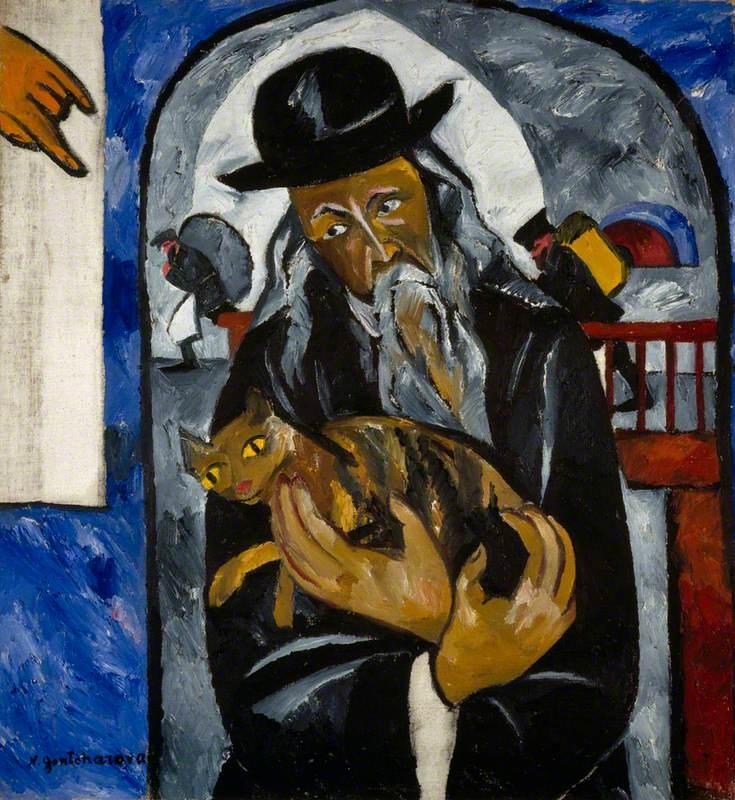 Rabbi with Cat