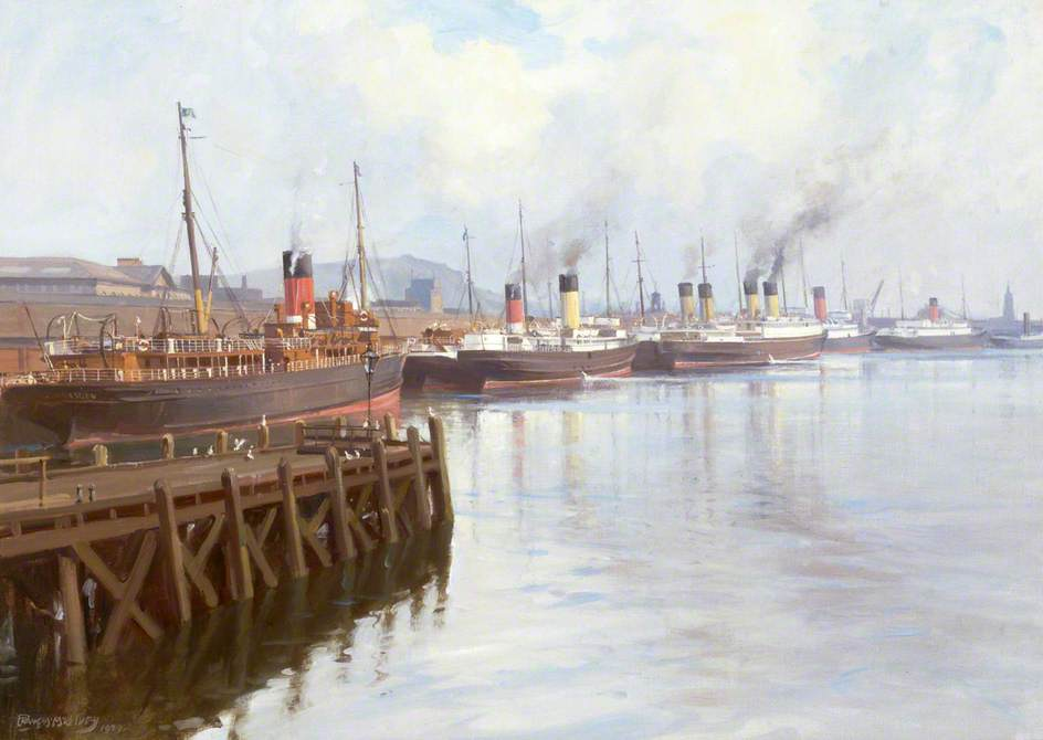 Cross-Channel Steamers at Donegal Quay, Belfast