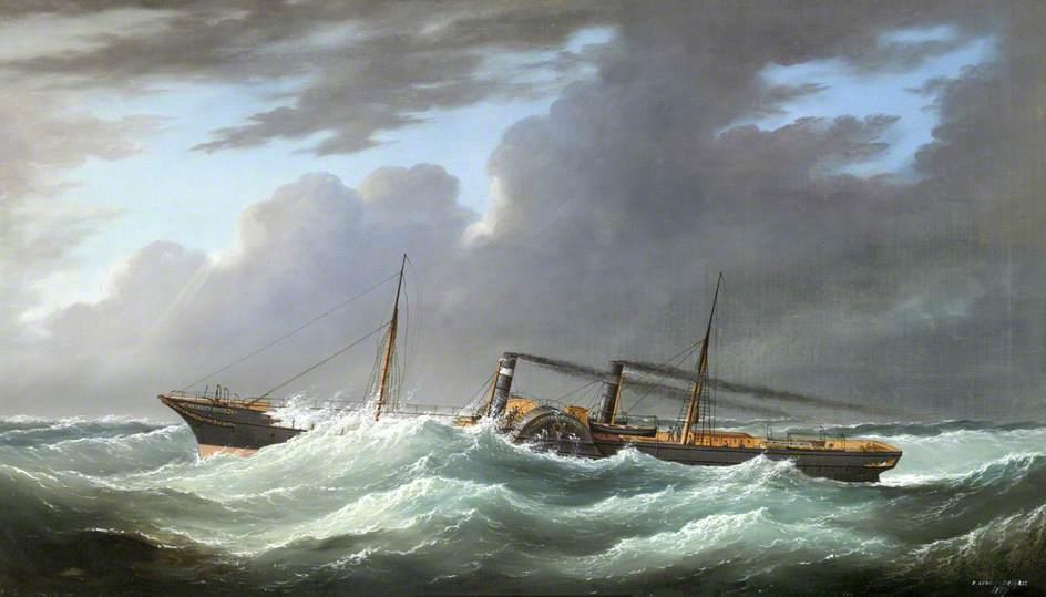 The Sail Paddle Steamer 'Prince Patrick' on Passage
