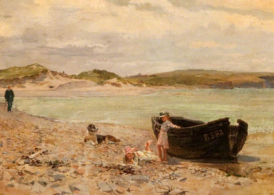 On the Beach at Castlerock