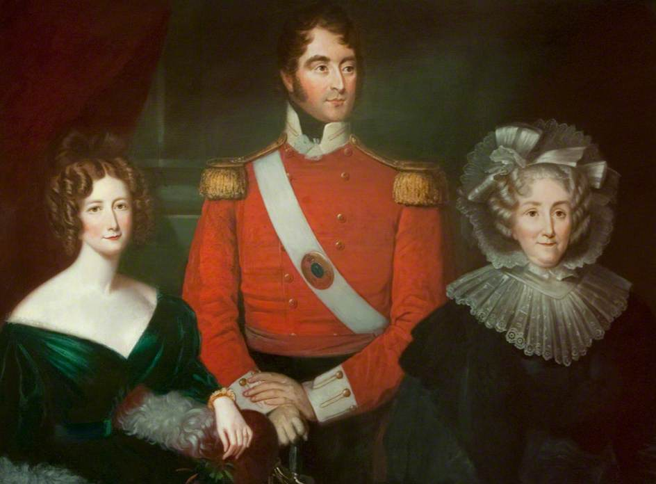 Mrs Blacker, Lieutenant Colonel Blacker and Lady Ferguson