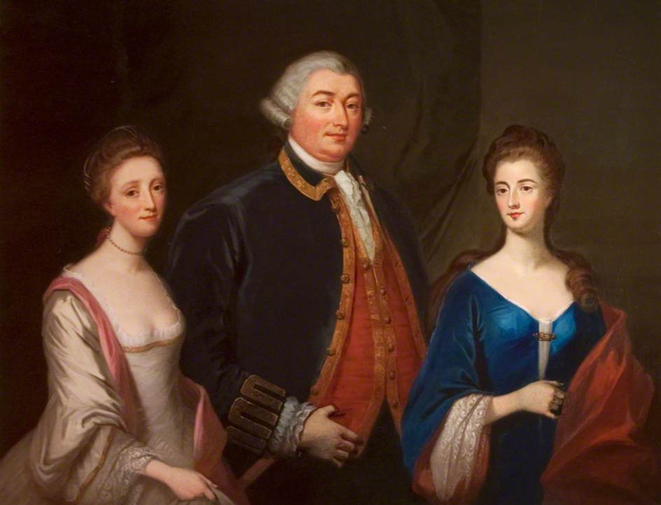 Lady Hill, Hugh Hill and Mrs Blacker