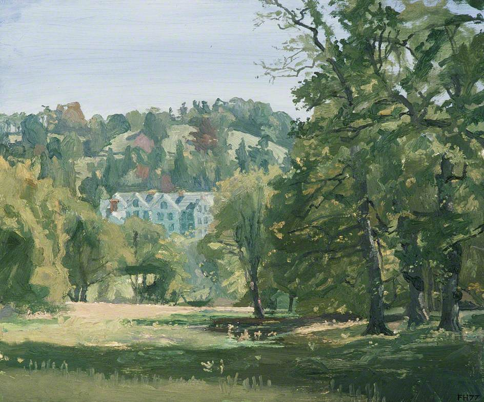 Gregynog from the Great Wood